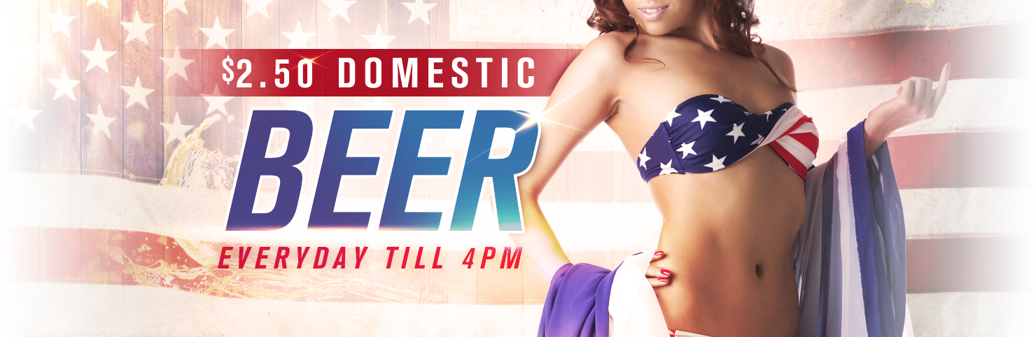 $2.50 Domestic Beers at Cheerleaders New Jersey