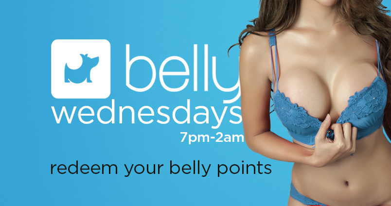 Redeem Your Belly Points at Cheerleaders Club