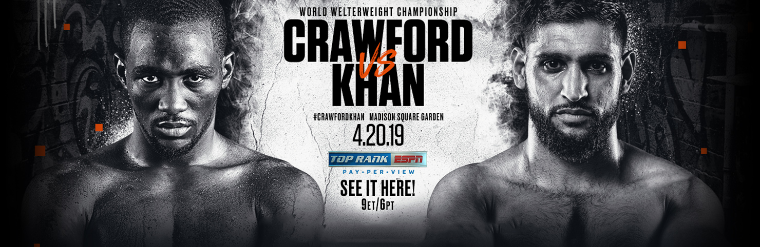 Crawford vs Khan at Cheerleaders New Jersey