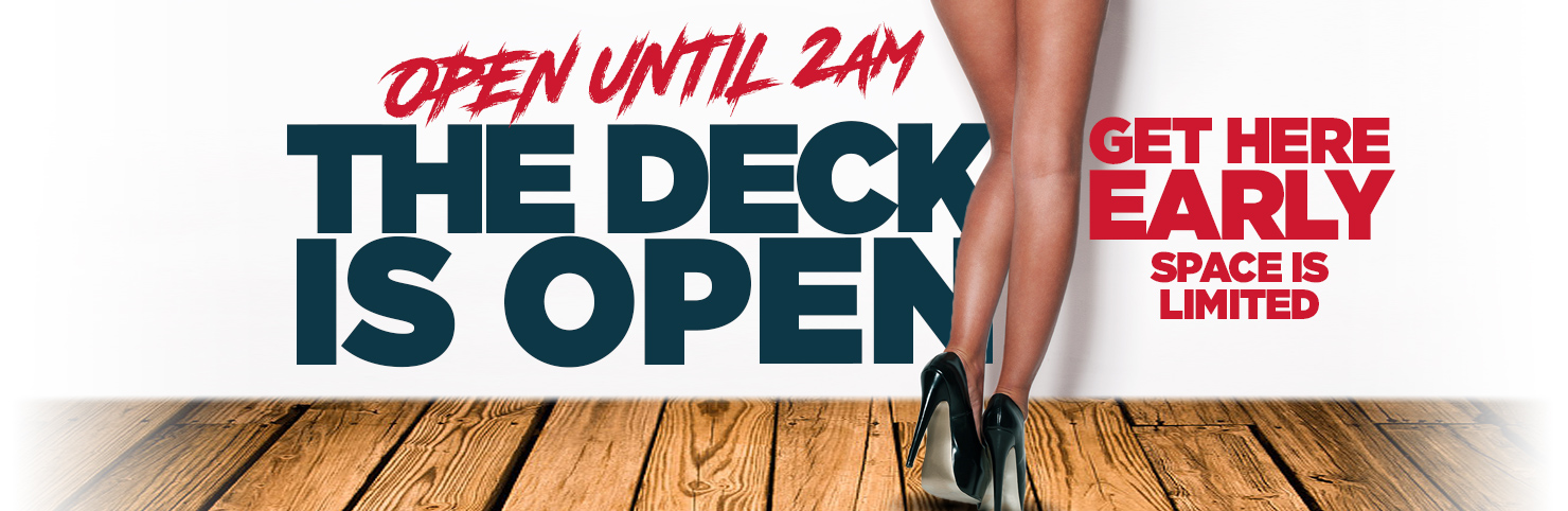 Deck Open at Cheerleaders New Jersey